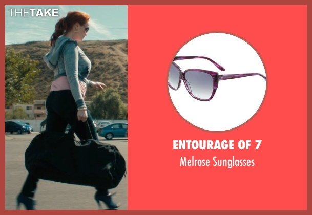 Entourage of 7 purple sunglasses from Drive seen with Christina Hendricks (Blanche)