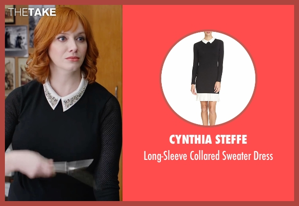 Cynthia Steffe black dress from Fist Fight seen with Christina Hendricks (Unknown Character)