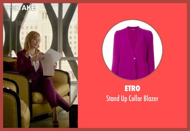 Etro purple blazer from The Neon Demon seen with Christina Hendricks (Jan)