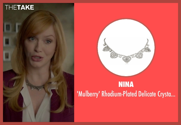 Nina silver necklace from The Neon Demon seen with Christina Hendricks (Jan)