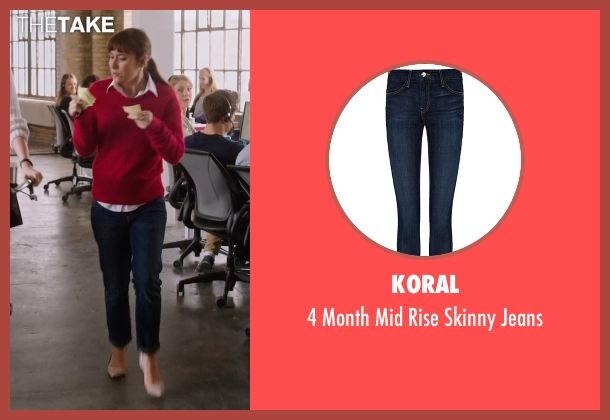 Koral blue jeans from The Intern seen with Christina Scherer (Becky Scott)