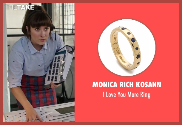 Monica Rich Kosann gold ring from The Intern seen with Christina Scherer (Becky Scott)
