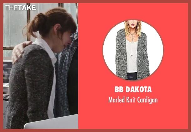 BB Dakota gray cardigan from The Intern seen with Christina Scherer (Becky Scott)