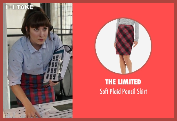 The Limited red skirt from The Intern seen with Christina Scherer (Becky Scott)