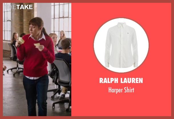 Ralph Lauren white shirt from The Intern seen with Christina Scherer (Becky Scott)