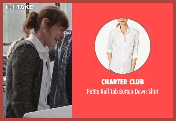 Charter Club white shirt from The Intern seen with Christina Scherer (Becky Scott)