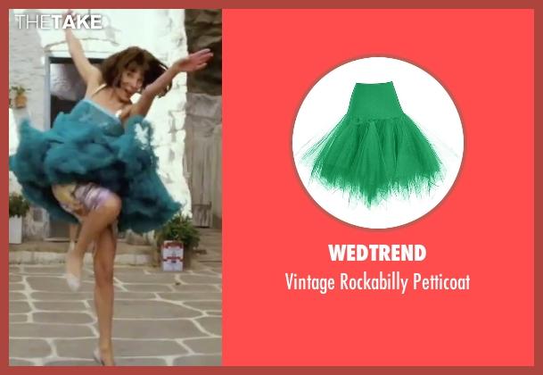 Wedtrend  green petticoat from Mamma Mia! seen with Christine Baranski (Tanya)