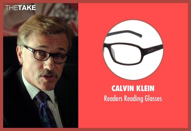 Calvin Klein black glasses from Horrible Bosses 2 seen with Christoph Waltz (Burt Hanson)