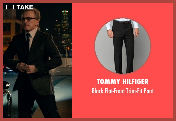 Tommy Hilfiger black pant from Horrible Bosses 2 seen with Christoph Waltz (Burt Hanson)