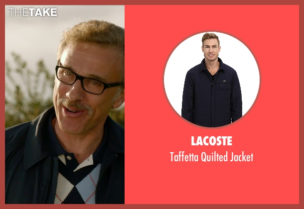 Lacoste blue jacket from Horrible Bosses 2 seen with Christoph Waltz (Burt Hanson)