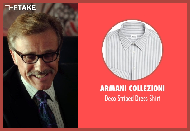 Armani Collezioni white shirt from Horrible Bosses 2 seen with Christoph Waltz (Burt Hanson)