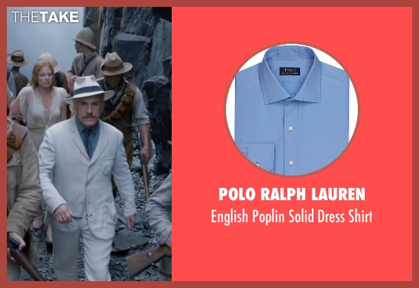 Polo Ralph Lauren blue shirt from The Legend of Tarzan seen with Christoph Waltz (Captain Rom)