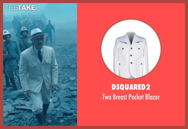 Dsquared2 white blazer from The Legend of Tarzan seen with Christoph Waltz (Captain Rom)