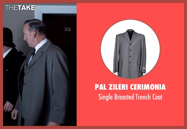 Pal Zileri Cerimonia gray coat from Legend seen with Christopher Eccleston (Nipper Read)