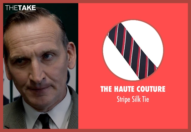 The Haute Couture red tie from Legend seen with Christopher Eccleston (Nipper Read)