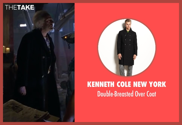 Kenneth Cole New York black coat from Back To The Future Part II seen with Christopher Lloyd (Dr. Emmett Brown)