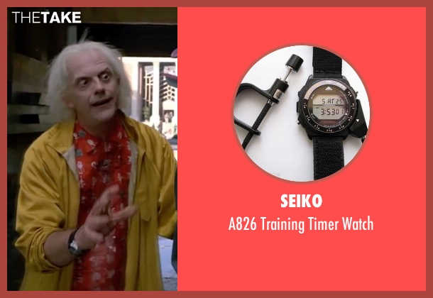 Seiko watch from Back To The Future Part II seen with Christopher Lloyd (Dr. Emmett Brown)
