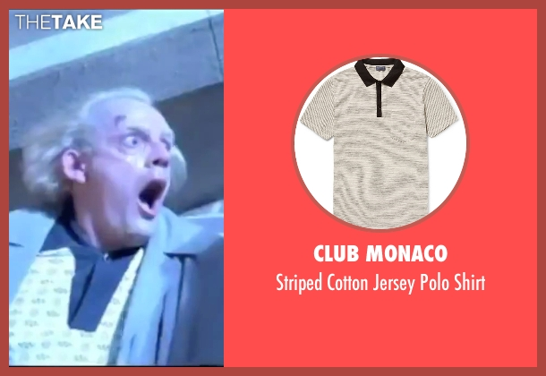 Club Monaco white shirt from Back To The Future seen with Christopher Lloyd (Dr. Emmett Brown)