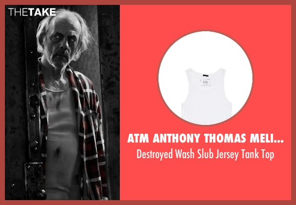 ATM Anthony Thomas Melillo white top from Frank Miller's Sin City: A Dame To Kill For seen with Christopher Lloyd (Unknown Character)