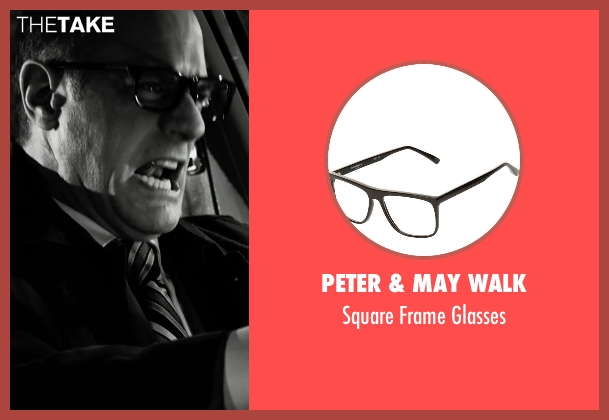 Peter & May Walk black glasses from Frank Miller's Sin City: A Dame To Kill For seen with Christopher Meloni (Mort)