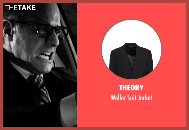 Theory black jacket from Frank Miller's Sin City: A Dame To Kill For seen with Christopher Meloni (Mort)