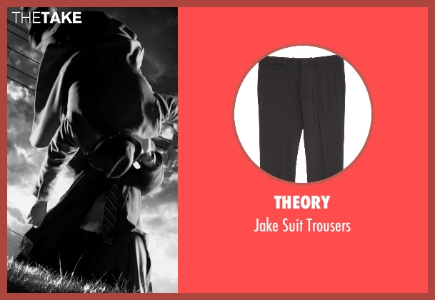 Theory black trousers from Frank Miller's Sin City: A Dame To Kill For seen with Christopher Meloni (Mort)