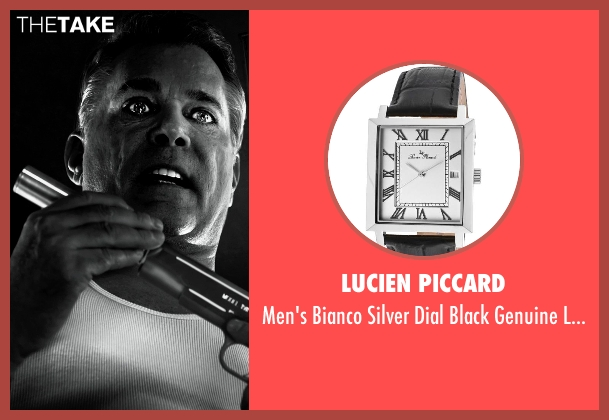 Lucien Piccard black watch from Frank Miller's Sin City: A Dame To Kill For seen with Christopher Meloni (Mort)
