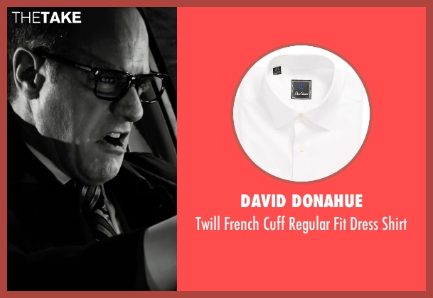 David Donahue white shirt from Frank Miller's Sin City: A Dame To Kill For seen with Christopher Meloni (Mort)