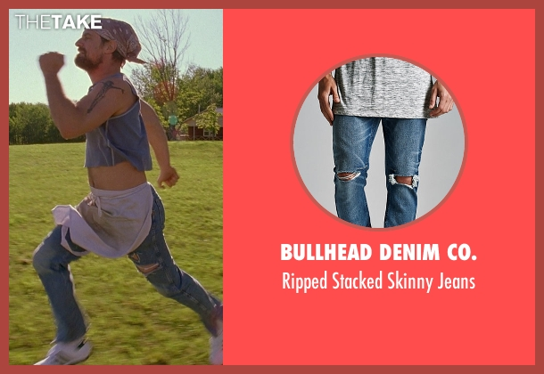 Bullhead Denim Co. blue jeans from Wet Hot American Summer seen with Christopher Meloni (Gene)