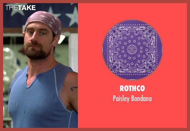 Rothco purple bandana from Wet Hot American Summer seen with Christopher Meloni (Gene)