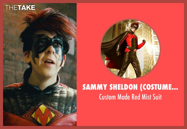 Sammy Sheldon (Costume Designer) suit from Kick-Ass seen with Christopher Mintz-Plasse (Chris D'Amico / Red Mist)