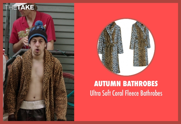 Autumn Bathrobes bathrobes from Neighbors seen with Christopher Mintz-Plasse (Scoonie)