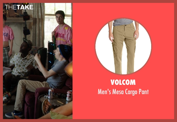 Volcom beige pant from Neighbors seen with Christopher Mintz-Plasse (Scoonie)