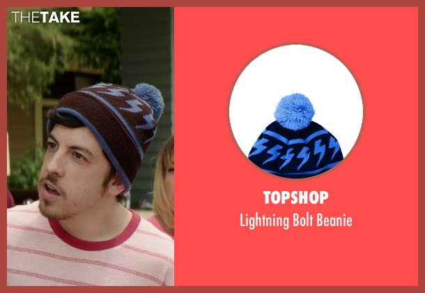 Topshop black beanie from Neighbors seen with Christopher Mintz-Plasse (Scoonie)