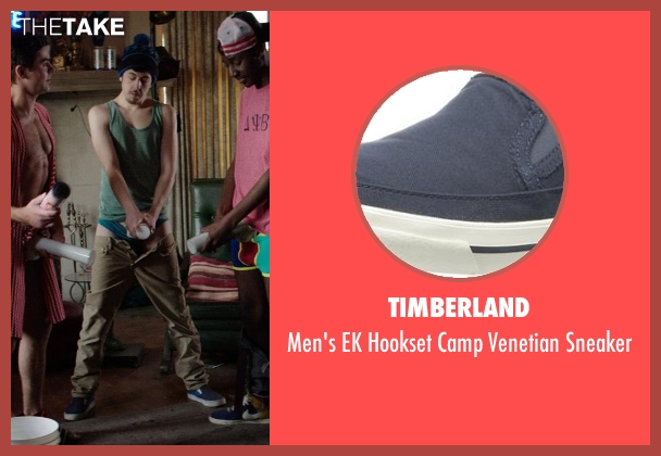 Timberland blue sneaker from Neighbors seen with Christopher Mintz-Plasse (Scoonie)