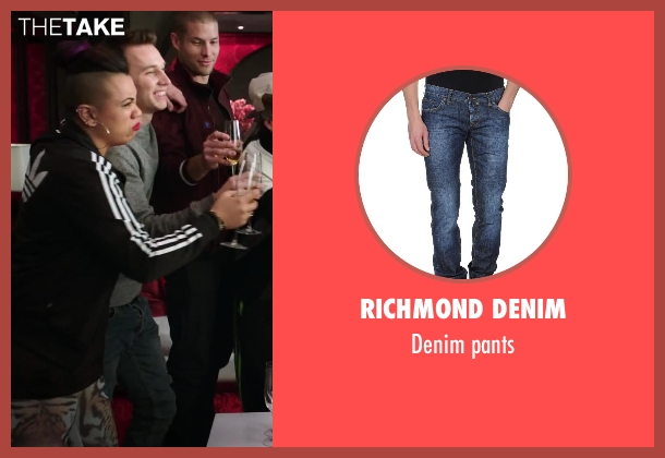 Richmond Denim blue pants from Step Up: All In seen with Christopher Scott (Hair)