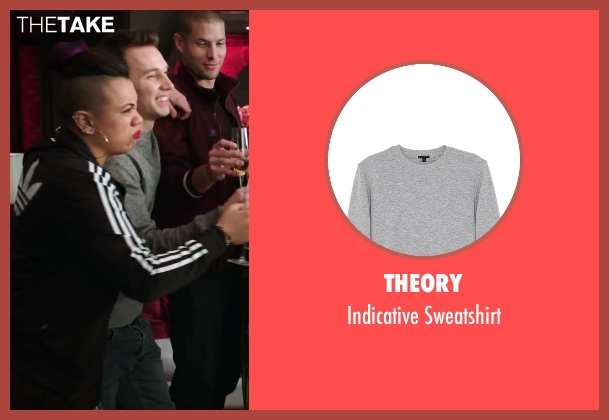 Theory gray sweatshirt from Step Up: All In seen with Christopher Scott (Hair)