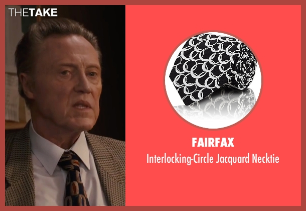 Fairfax black necktie from Eddie The Eagle seen with Christopher Walken (Unknown Character)