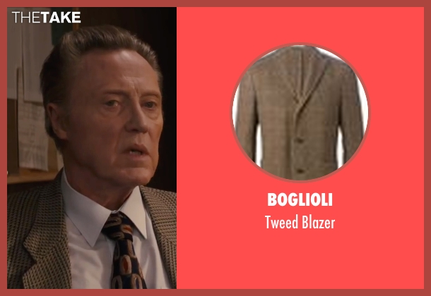 Boglioli brown blazer from Eddie The Eagle seen with Christopher Walken (Unknown Character)