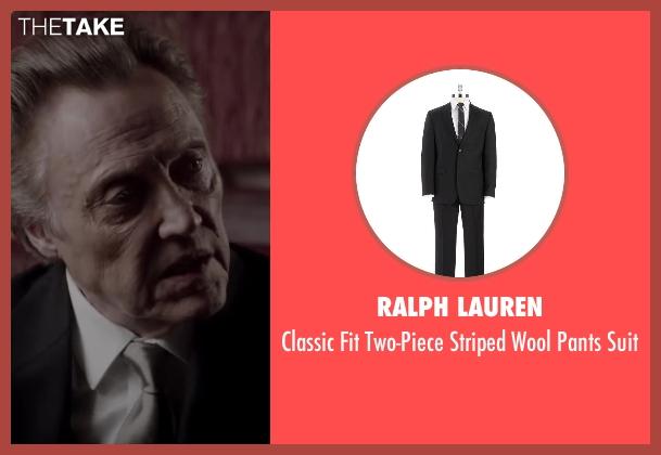 RALPH LAUREN black suit from Jersey Boys seen with Christopher Walken (Angelo 'Gyp' DeCarlo)