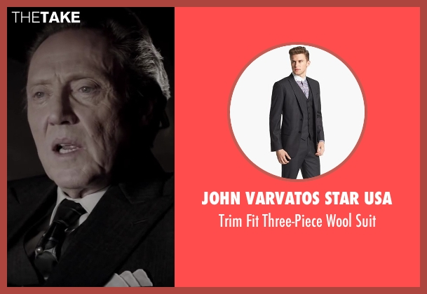 John Varvatos Star USA black suit from Jersey Boys seen with Christopher Walken (Angelo 'Gyp' DeCarlo)