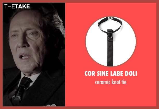 COR SINE LABE DOLI black tie from Jersey Boys seen with Christopher Walken (Angelo 'Gyp' DeCarlo)
