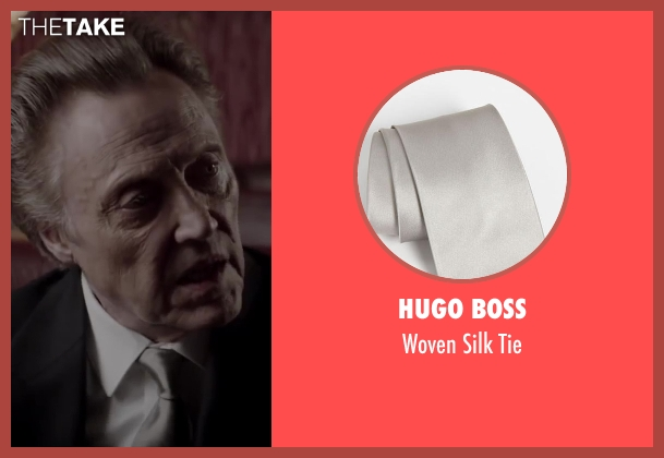 HUGO BOSS silver tie from Jersey Boys seen with Christopher Walken (Angelo 'Gyp' DeCarlo)
