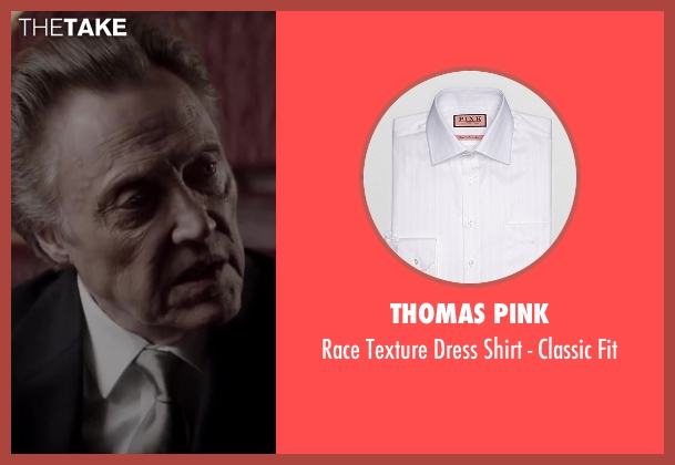 Thomas Pink white fit from Jersey Boys seen with Christopher Walken (Angelo 'Gyp' DeCarlo)