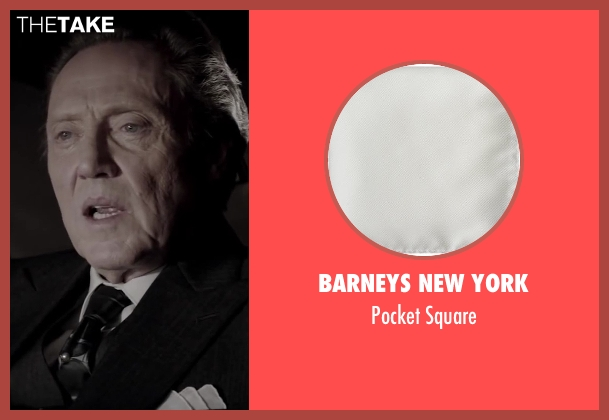 BARNEYS NEW YORK white square from Jersey Boys seen with Christopher Walken (Angelo 'Gyp' DeCarlo)