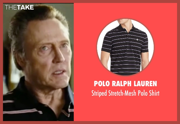 Polo Ralph Lauren black shirt from Wedding Crashers seen with Christopher Walken (Secretary Cleary)