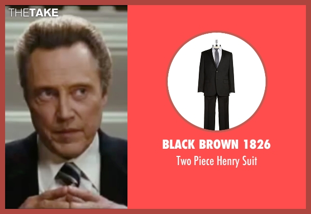 Black Brown 1826  black suit from Wedding Crashers seen with Christopher Walken (Secretary Cleary)