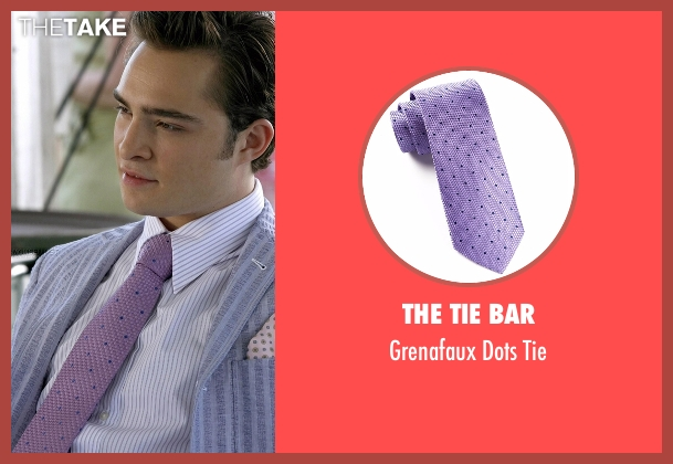 The Tie Bar purple tie from Gossip Girl seen with Chuck Bass (Ed Westwick)