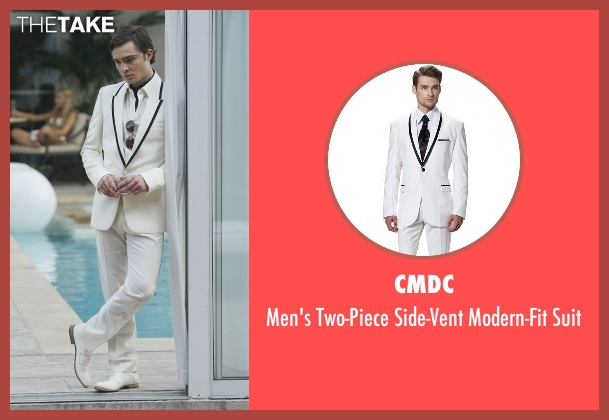 CMDC white suit from Gossip Girl seen with Chuck Bass (Ed Westwick)