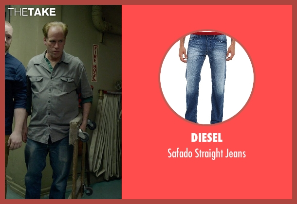 Diesel blue jeans from Birdman seen with Chuck McMahon (Tought Guy / Stagehand (uncredited))
